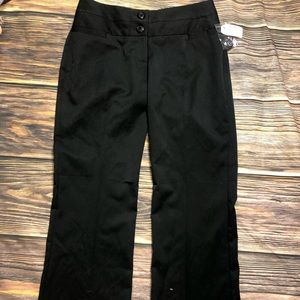 NWT-Maurice's Women's black trousers SZ 2 short